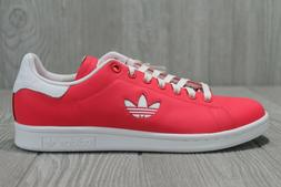 50 Adidas Stan Smith Leather Coral Red Tennis Shoes Mens Sz