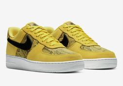🔥 Nike Air Force 1 Low 07' PRM Yellow Gold Snakeskin Shoe