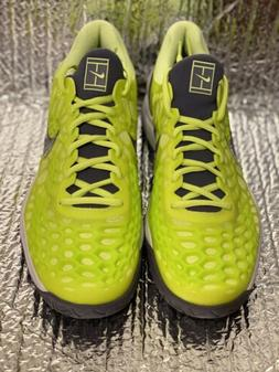 Nike Air Zoom Cage 3 HC Rafa Nadal Tennis Volt Glow Shoes 91