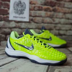 Nike Air Zoom Cage 3 HC Rafael Nadal Volt Tennis Shoes 91819