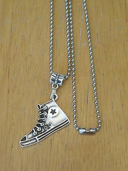 Chuck Sneaker/Athletic/Basketball/Tennis Shoe Pendant Neckla