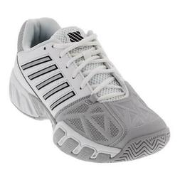 K-Swiss Men`s BigShot Light 3 Tennis Shoes White and Silver