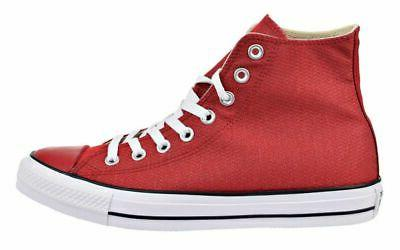 Converse Hi Tops Gym Red, White Sneakers