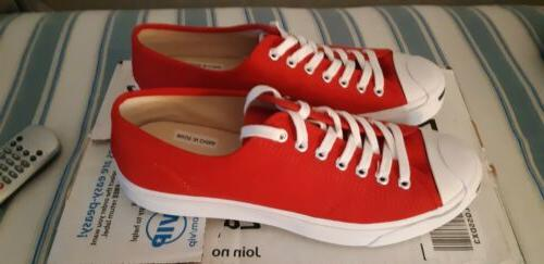 Converse Jack Purcell Tennis Shoes Mens Red.