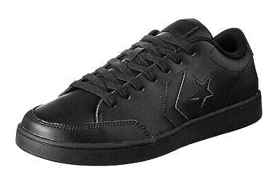 Converse Low Tops Star Court Black OX Leather Mens Sneakers