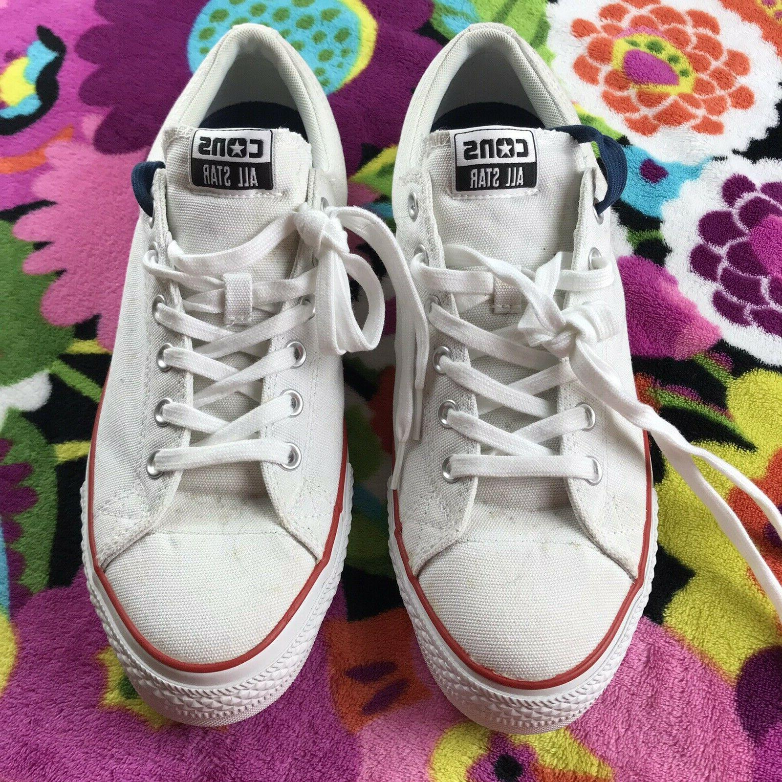 men s all star white low top
