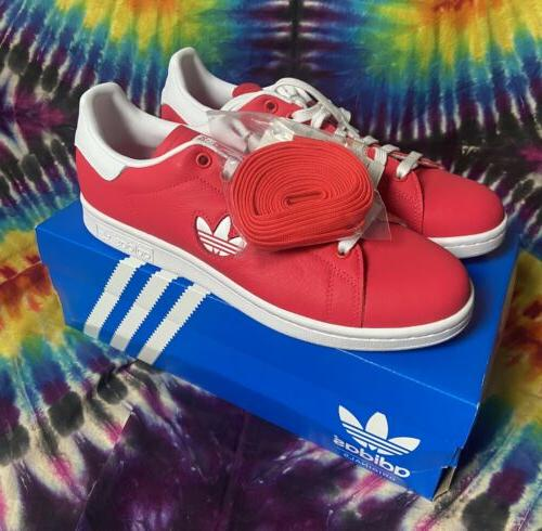 mens stan smith leather shock red cloud