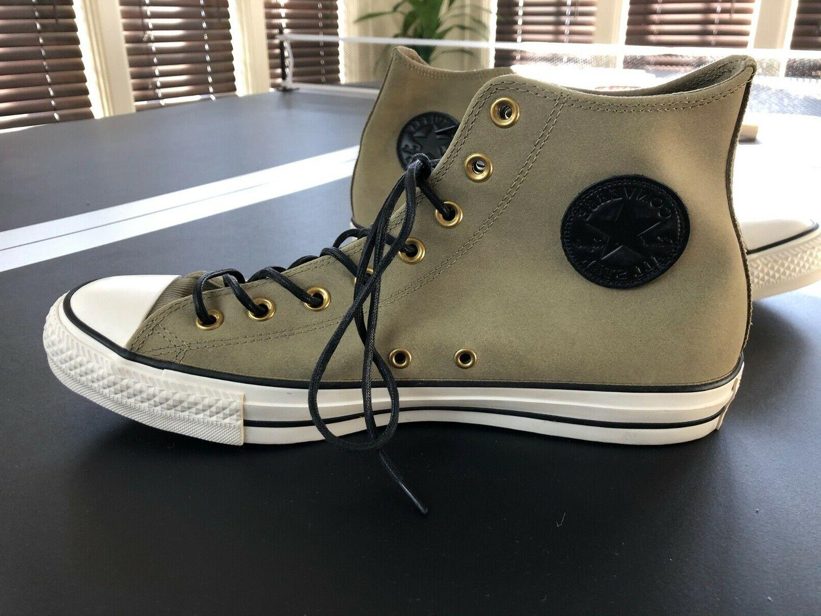 new all star unique olive leather high