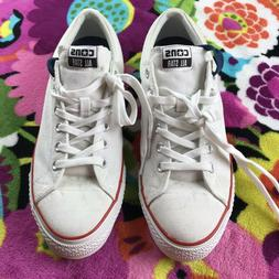 Men's Converse All Star White Low Top Tennis Shoes New witho