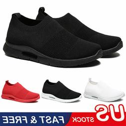 Men's Casual Sneakers Breathable Lightweight Slip-on Running