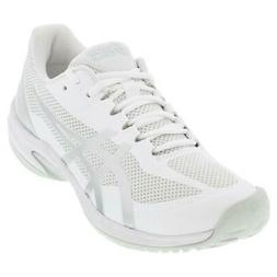 Asics Men`s Court Speed FF Tennis Shoes White and Pure Silve