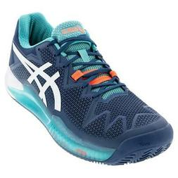 Asics Men`s GEL-Resolution 8 Clay Tennis Shoes Mako Blue and