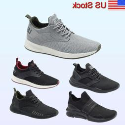 Men's Knit Running Shoes Slip on Sneakers Breathable Tennis