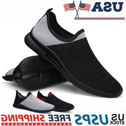 Men's Slip-On Walking Tennis Sneakers Fashion Lightweight At