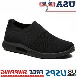 Men's Tennis Sneakers Casual Breathable Lightweight Slip-on