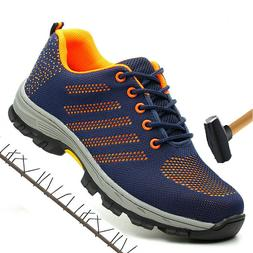Men Steel Toe Boots Work Safety Outdoor Tennis Breathable Sa