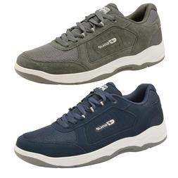 Mens Gola Belmont Wide EE Fit Suede Sports Shoes Lace Up Non