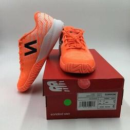 New Balance Mens Pro Bank Tennis Shoes Orange Low Top Mesh L