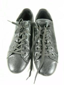 Mens size 11 Black Kenneth Cole Tyler Leather Tennis Shoes S