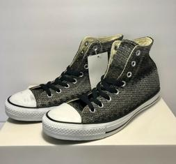 Converse Mens Size 9 CTAS Hi Black Brown White Shoes Sneaker
