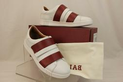 NIB BALLY WILLET WHITE RED LEATHER LOGO SWISS SNEAKERS 8.5 U
