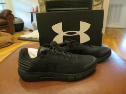 NWT Mens Black Under Armour Charged Rogue Tennis Shoes, 11