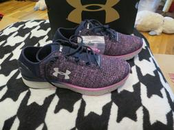 NWT Womens Blue & Purple Under Armour Charged Bandit 3 Tenni