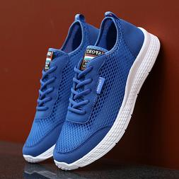 Plus Size Men's Sneakers Lightweight Running Shoes Breathabl