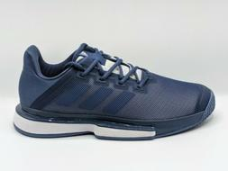 Adidas SoleMatch Bounce Tennis Shoes Navy Blue White Men's S