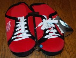 Sz 11/12 Detroit Red Wings Team Tennis Shoes Lace-up Slipper