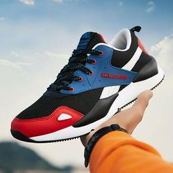 US Men Black/Red/Gray Sneakers Breathable Casual Sports Gym