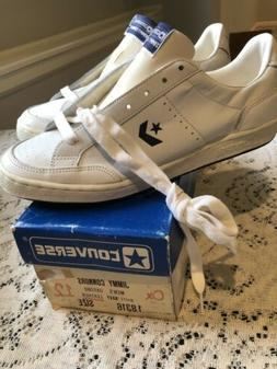 Vintage NOS CONVERSE Jimmy Connors 80s Tennis Shoes White/Na
