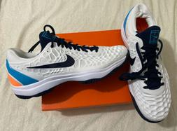 Nike Zoom Cage 3 HC White Obsidian Light Carbon Tennis Shoes